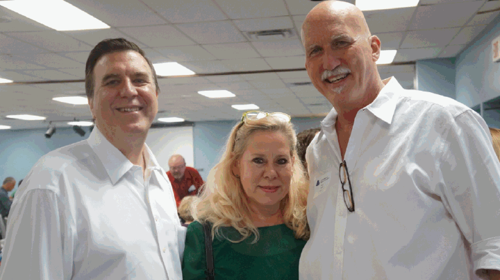 With Barry and Cambria Beasley at the La Porte Chamber of Commerce - Hamburger Cookout.